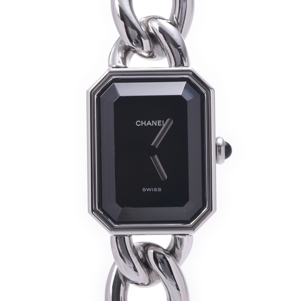CHANEL Chanel Premiere Size L H0452 Ladies Stainless Steel Wrist Watch Quartz Black Dial