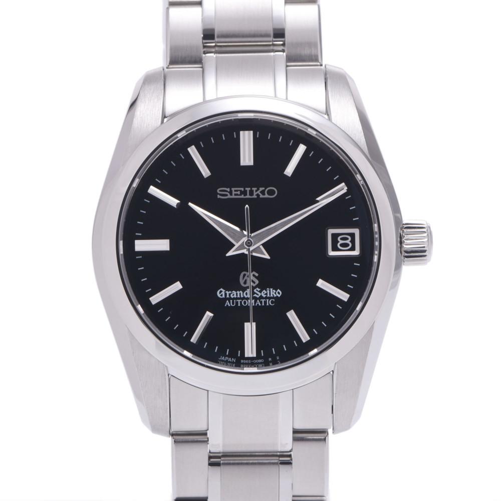 SEIKO Seiko Grand SBGR053 Men's Stainless Steel Watch Automatic Black Dial
