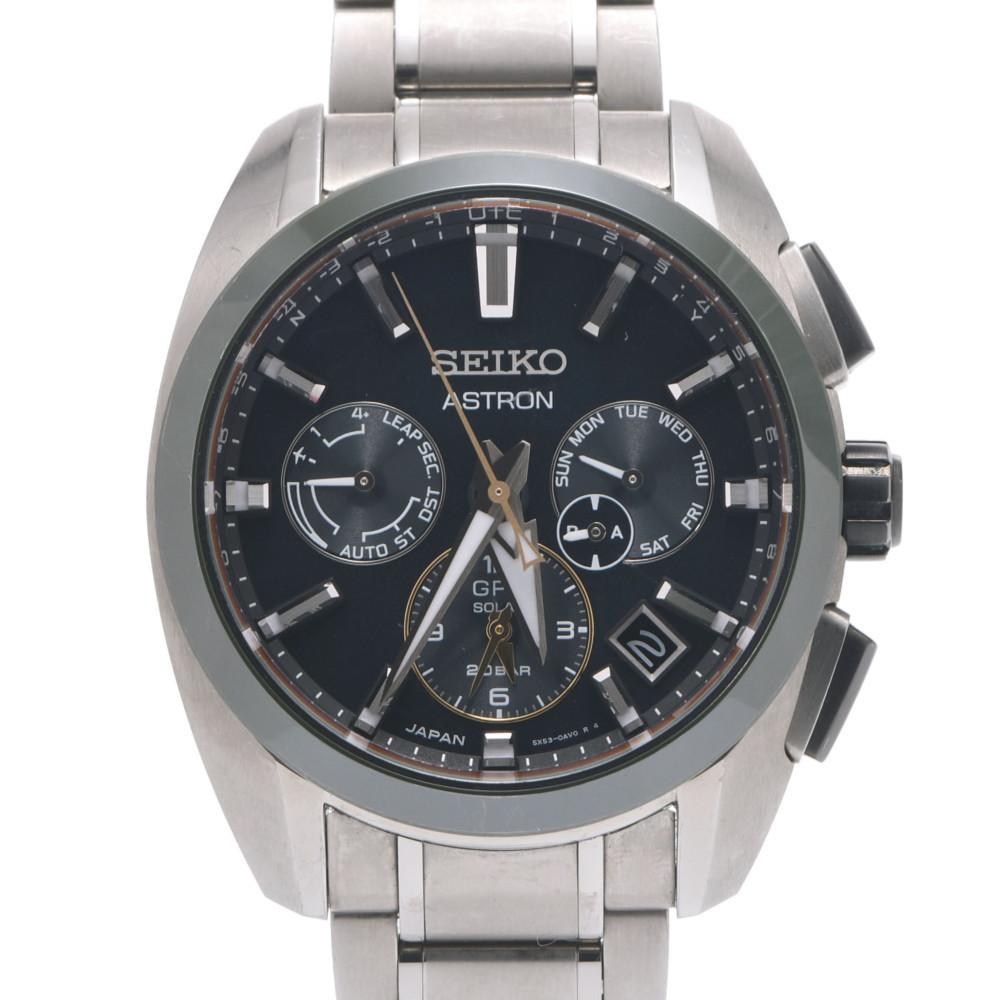 SEIKO Seiko Astron GPS Solar Anniversary of Time 100th Limited SBXC071 Men's Titanium Watch Green Dial
