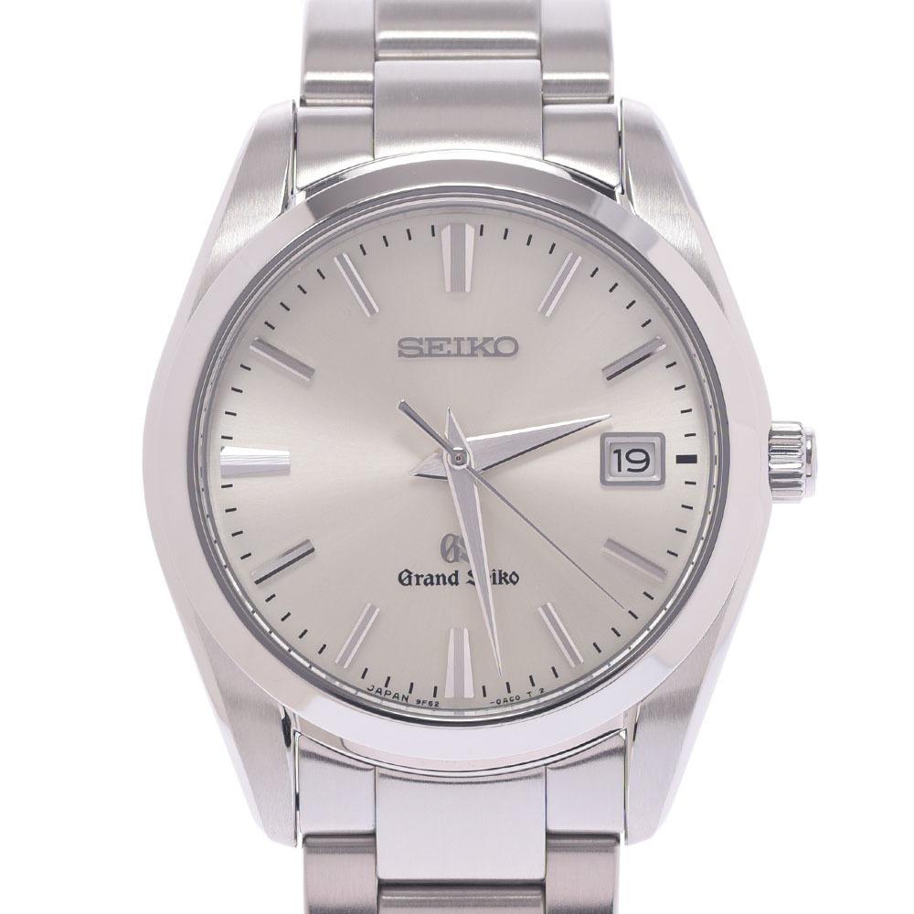 SEIKO Grand Seiko SBGX063 9F62-0AB0 Men's Stainless Steel Watch Quartz Silver Dial