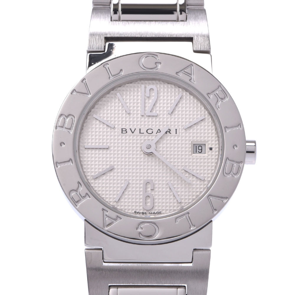 BVLGARI Bvlgari 26 BB26SS Ladies Stainless Steel Wrist Watch Quartz White Dial