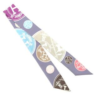 Hermes Scarf Twilly Tagged 100% Silk Purple Ladies HERMES K10414320