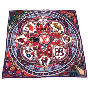 Louis Vuitton Scarf Monogram Carre Superstion Zodiac & Flower M71430 100% Silk Multicolor Ladies LOUIS VUITTON K10119607