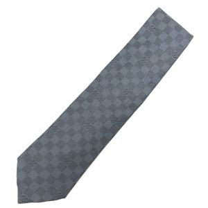 Louis Vuitton Tie Cravat Damier Classic 100% Silk Blue Men's LOUIS VUITTON K10406966