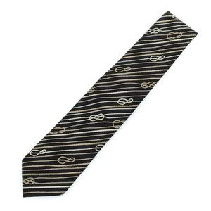 Gucci Tie Striped Rope 100% Silk Black Men's GUCCI K10405223
