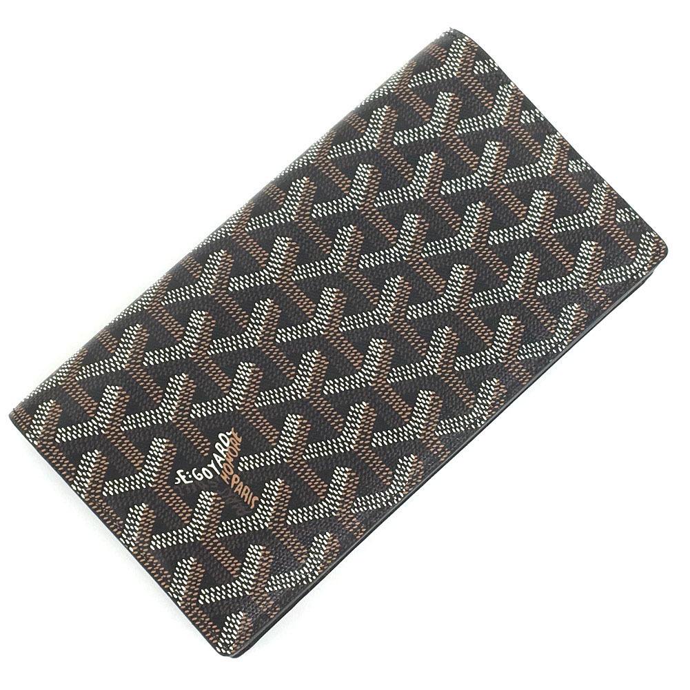 Goyard Long Wallet Richelieu PVCLeather Black Men's GOYARD K10406945