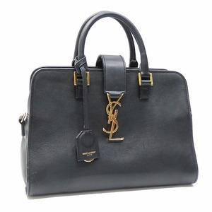 Saint Laurent Baby Kabas Ladies Black Leather Suede 372087