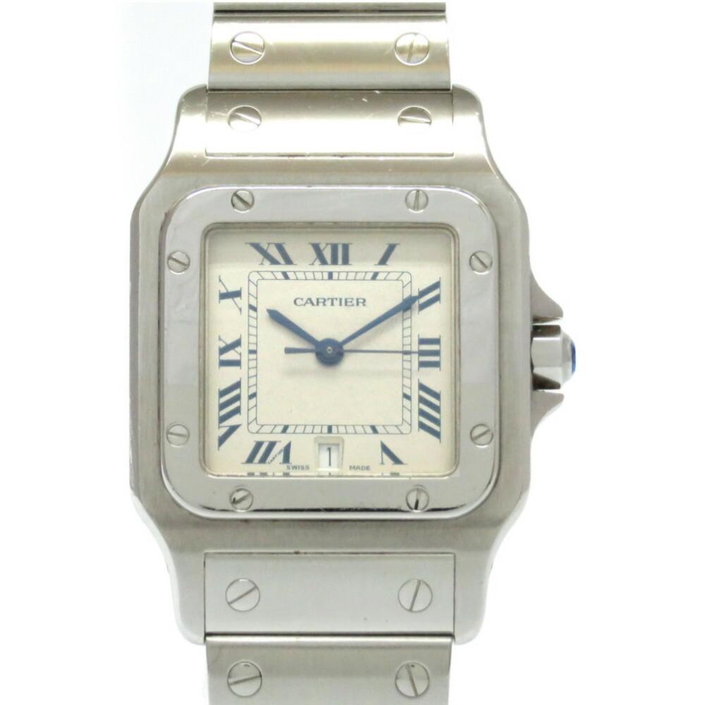Cartier Santos Galve LM Quartz Watch SS Beige 0004CARTIER Ladies