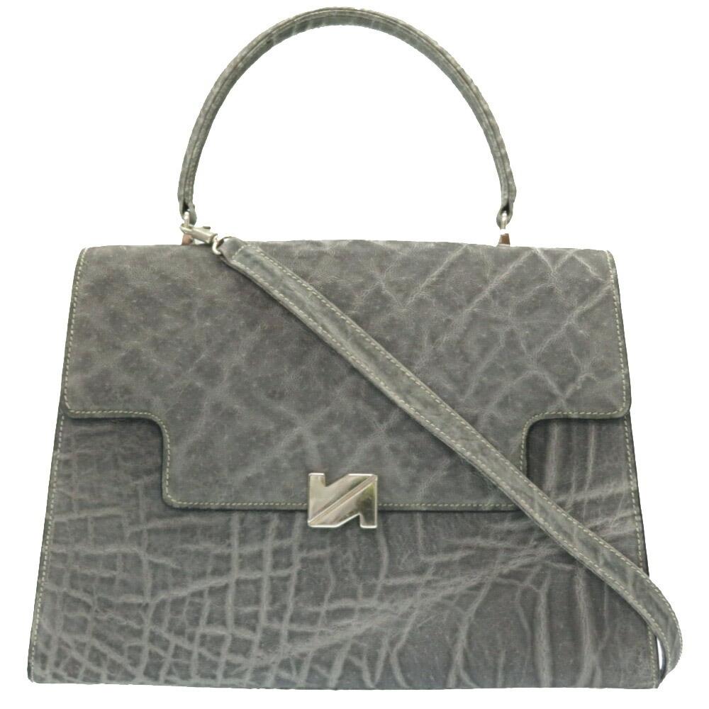 Valextra 2WAY Shoulder Elephant Handbag with Strap 0079