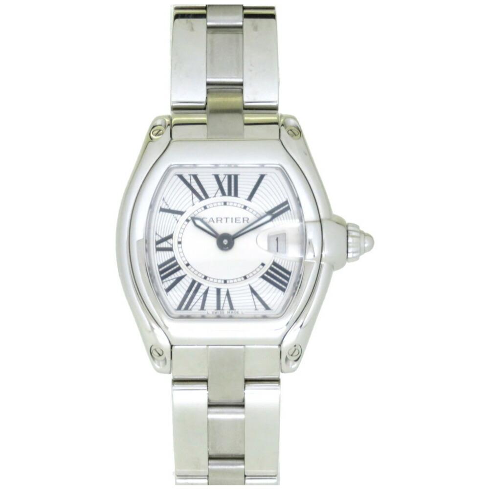 Cartier Roadster SM W62016V3 Quartz Watch SS Silver 0015CARTIER Ladies