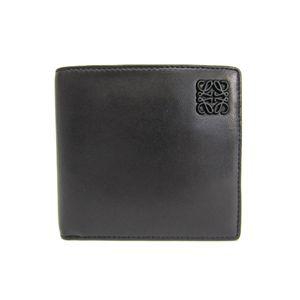 ロエベ(Loewe) ロエベ 二つ折り財布 ナッパレザー ブラック/ネイビー 109.80.501
