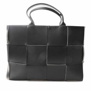 Bottega Veneta Intrecciato Leather The Alco Tote Bag Black