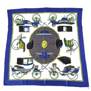 HERMES Carre 90 Scarf Women's Silk
