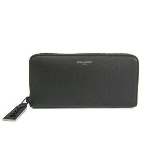 サン・ローラン(Saint Laurent)  カーフスキン 財布 ブラック