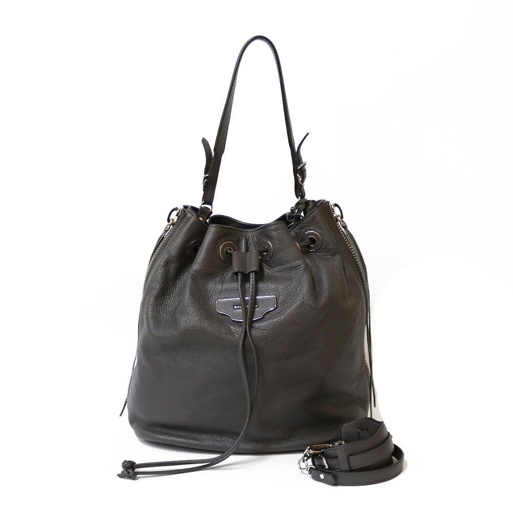 BALENCIAGA shoulder bag handbag gray ladies leather