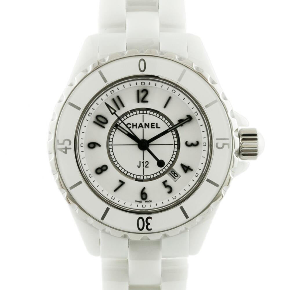 CHANEL Watch J12 H0968 White Ladies Men's Ceramic