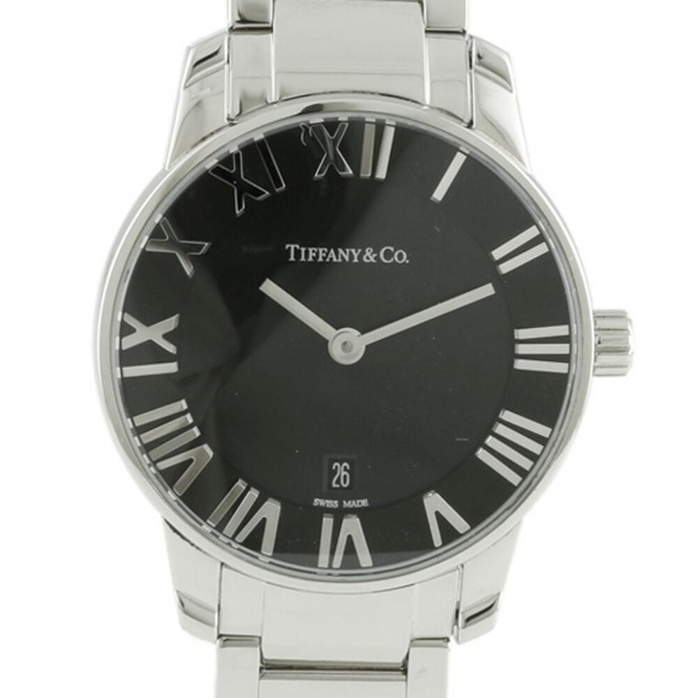 TIFFANY & Co. Tiffany SS Watch Atlas Silver Black Men's
