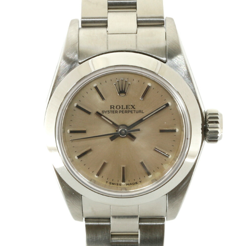 ROLEX Rolex SS Watch Oyster Perpetual W No. 1994-1995 Guarantee 67180 Silver Ladies