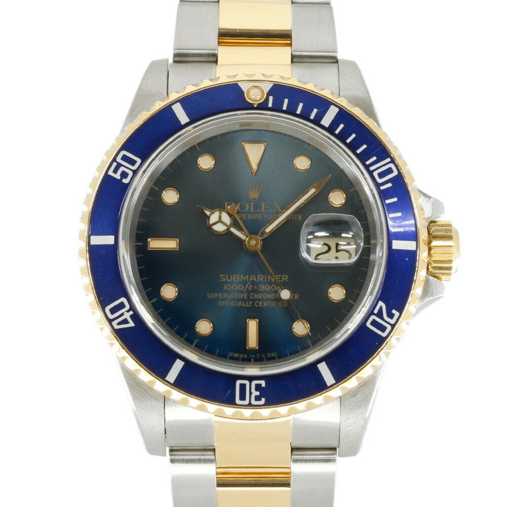 ROLEX Rolex SS K18YG Watch Oyster Perpetual R No. 1987-1988 Submariner Date Combination 16803 Silver Blue Gold Men's