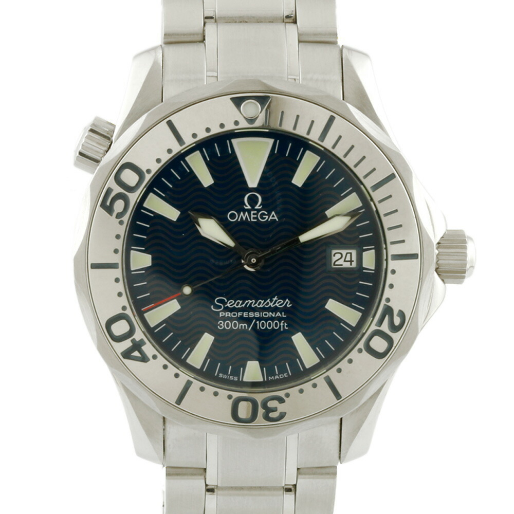 OMEGA Omega SS Watch 300M Seamaster Professional Silver Navy Men's