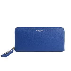 Saint Laurent Zip Around Wallet Leather Ultramarine 414680