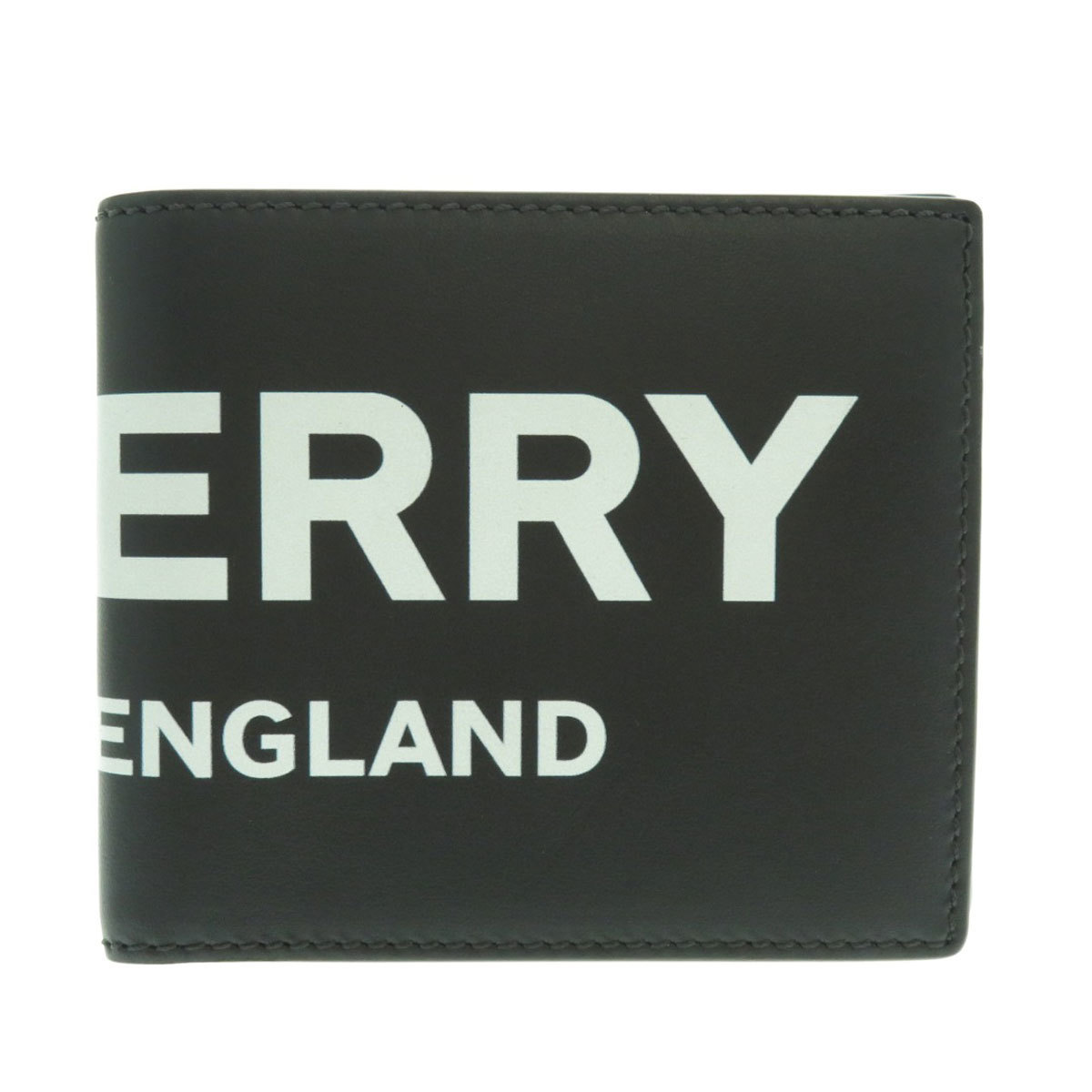 Burberry logo motif bi-fold wallet leather men's