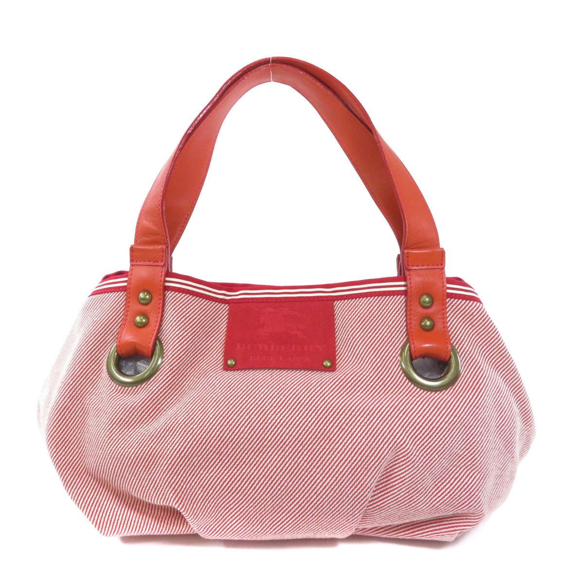 Burberry Logo Motif Tote Bag Canvas Ladies