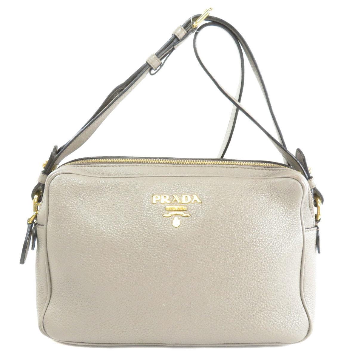 Prada 1BH079 Logo Motif Shoulder Bag Calf Ladies