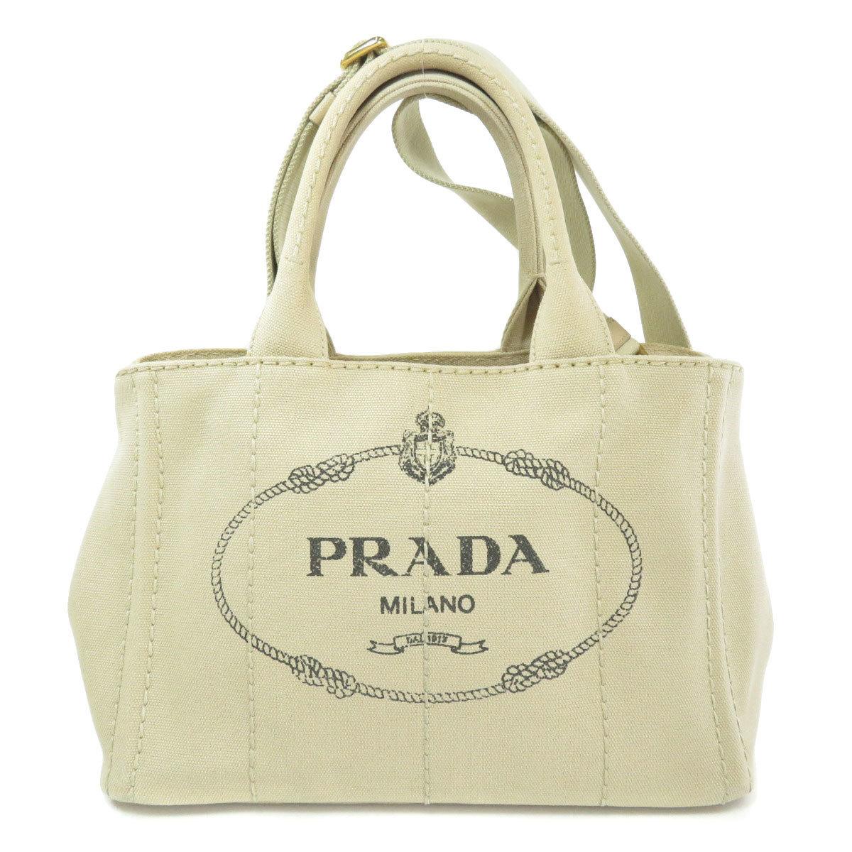 Prada 1BG439 Kanapa Mini 2WAY Tote Bag Canvas Ladies