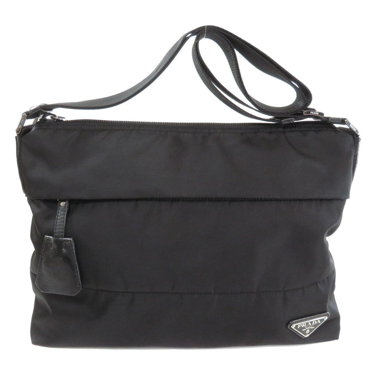 Prada BT0740 Logo Motif Shoulder Bag Nylon Ladies