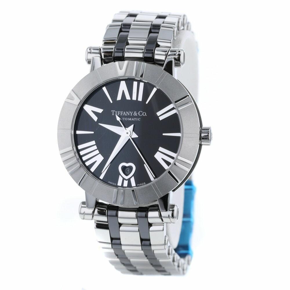 Tiffany Watch Atlas Heart Automatic Z1300 Stainless Steel Black Ladies TIFFANY & Co.