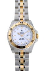 TUDOR Tudor Mini Sub Prince Date Combi Automatic 73193 White Dial Stainless Steel YG Watch