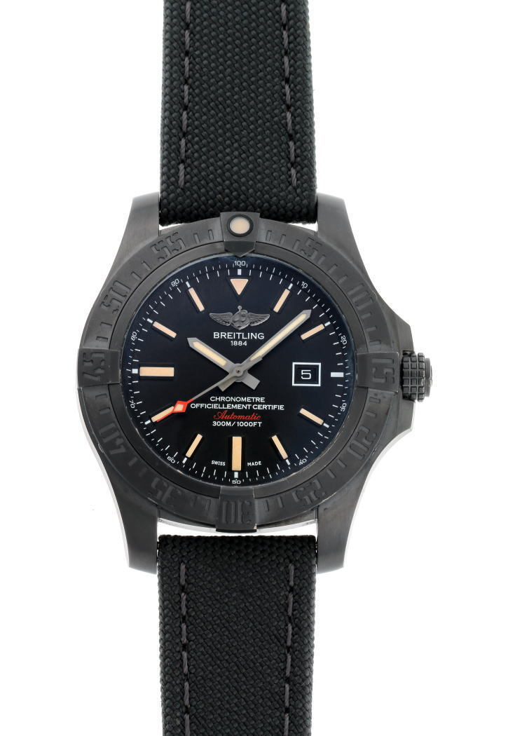BREITLING Breitling Avenger Blackbird Automatic V173B12 V17310 Black Dial Stainless Steel PVD Watch