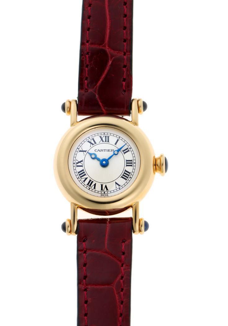 Cartier Mini Diabolo Quartz W1511556 Ivory Dial 750YG Watch