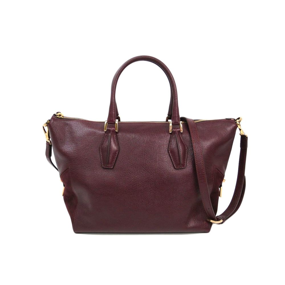 TODS ALR Tracolla Zip Piccola Bag Leather/Suede Bordeaux