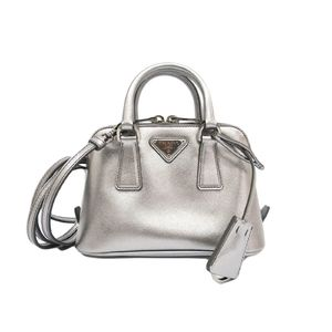 PRADA Hand bag SAFFIANO LUX Leather CROMO BL0851