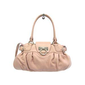Salvatore Ferragamo Hand bag Gancini Calfskin Pink AU-21 6317