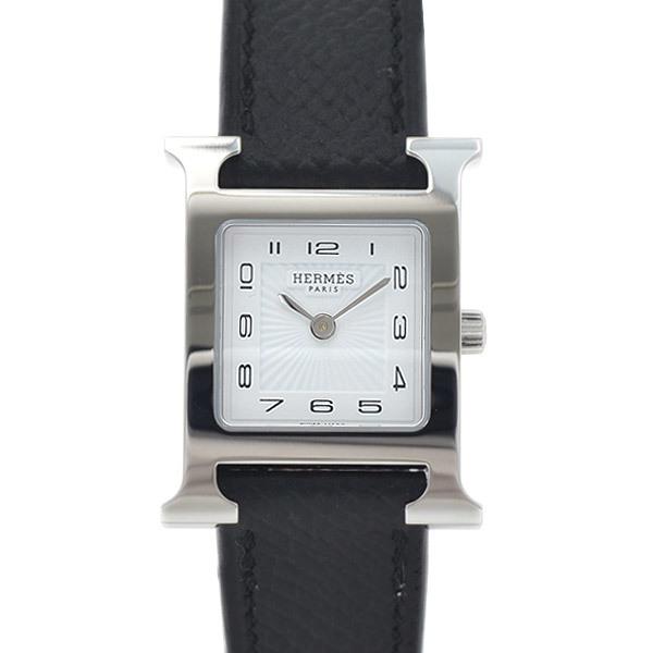 Hermes H Watch Ladies White Dial Sunbeam Stainless Steel Vaux Epson Quartz HH1.210