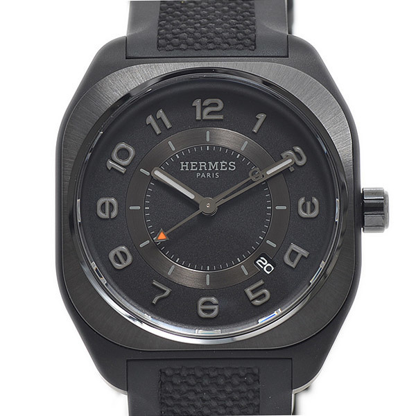 Hermes H08 GM Men's Watch SP1.742 Titanium Black Back Scale