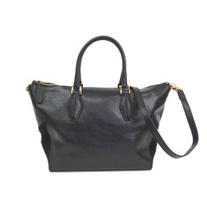 TODS ALR Tracolla Zip Piccola Hand bag Leather/Suede Black