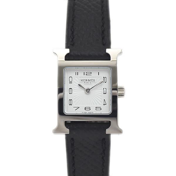 Hermes H Watch Mini Ladies White Dial Sunbeam Stainless Steel Vaux Epson Quartz HH1.110