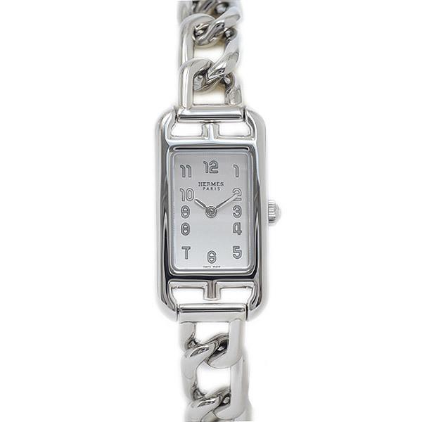 Hermes Nantucket Mini Ladies Silver Dial Stainless Steel Quartz NA2.110 Watch
