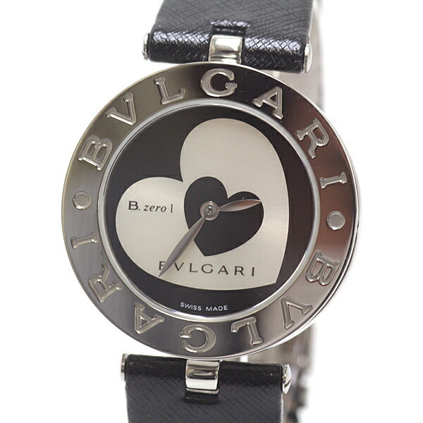 BVLGARI Bvlgari Ladies Watch B-zero1 Double Heart BZ30S Black x Silver Dial Quartz