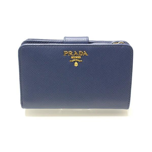 Prada PRADA Bi-fold wallet with coin purse SAFFIANO Leather Blue Ladies 1ml225 Reference list price 89,100 yen