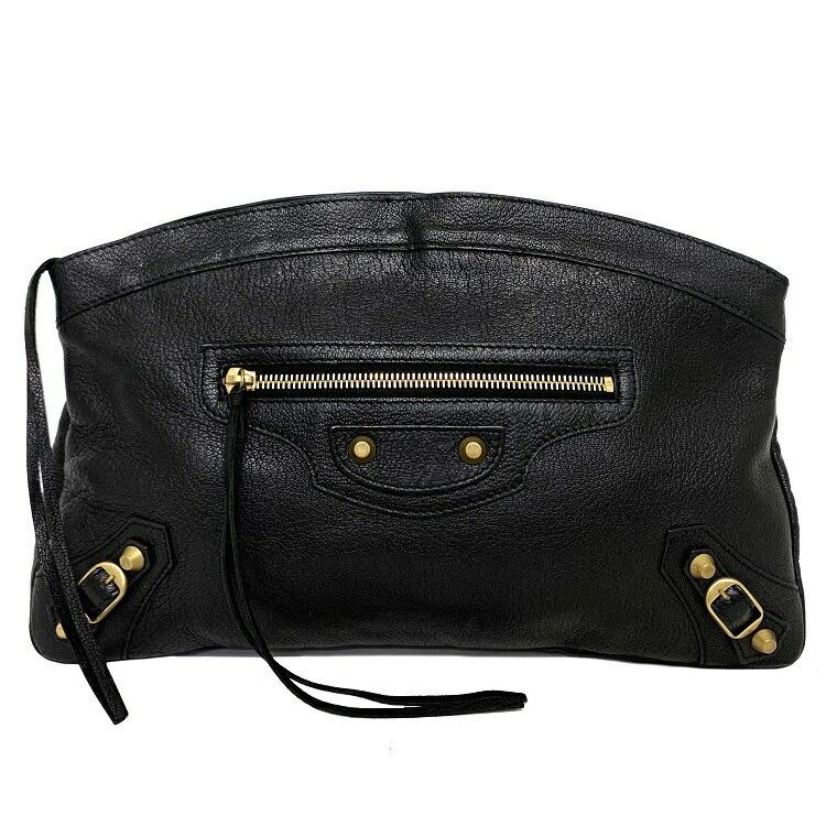 Balenciaga Clutch Bag Black Classic Envelope 278035 Lambskin BALENCIAGA