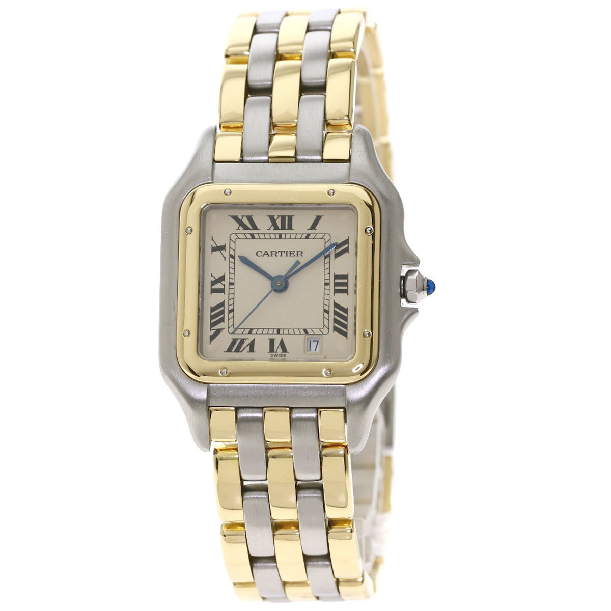 Cartier Panthère MM 3ROW Watch Stainless Steel Combination Boys