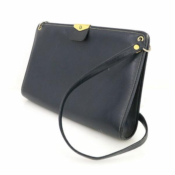 Christian Dior Navy Leather One Shoulder Bag Ladies