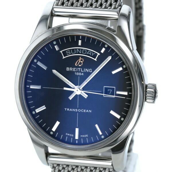 Breitling BREITLING Transocean Day-Date 51B690CA self-winding black dial men's watch