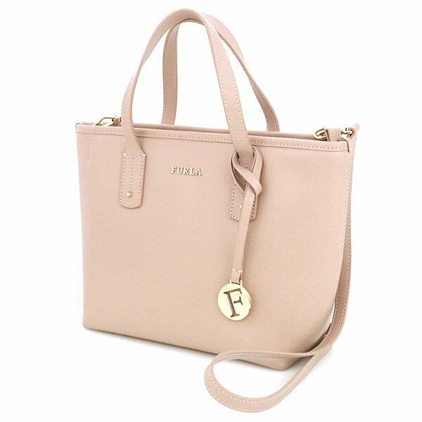 Furla FURLA Pink Leather Tote Bag 2way Shoulder Ladies