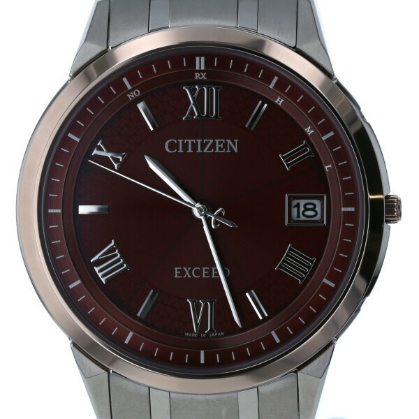 Citizen CITIZEN Exceed Eco-Drive H113-T026036 Solar Red Dial Men's Watch